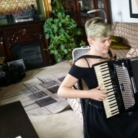 Greta one of my new accordion students