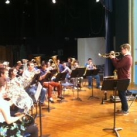Teaching a brass masterclass in Port Washington, NY.