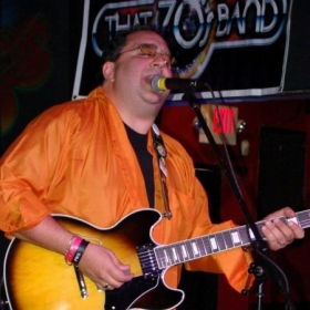 Performing at the Let's Rock for a Cure charity show for breast cancer awareness. KJ Farrells, Long Island, NY