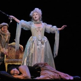 Performing the Fairy Godmother in the opera, Cinderella