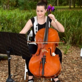 Performing for an outdoor wedding