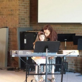 2015 Piano Recital.  One of my youngest students.