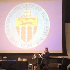 Award Performance after receiving the Edith DeLuca Memorial Music Award at Canisius College.