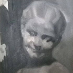 Study of the Florentine girl - oil on panel