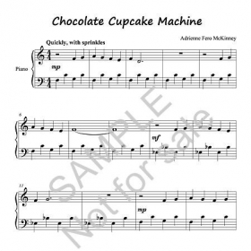 Sample elementary level piano composition for students.