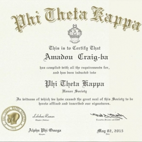 I am a member of the largest honor society for 2-year colleges in the world.