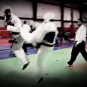 Back kick from a tournament last year !