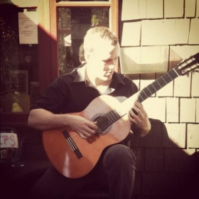 Playing a classical set list at The Lil' Chef in the Forest - Idyllwild, CA.