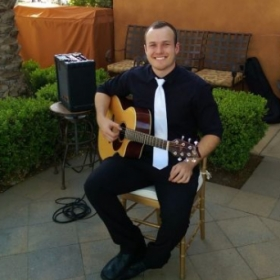 Playing jazz, classical, and contemporary pieces at a wedding at the Toscana Country Club - Palm Desert, CA.