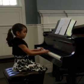 Piano students performing at the spring 2015 recital!
