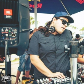 DJing Bassride in Venice sponsored by KROQ/Redbull