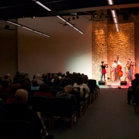 Playing with Ask Your Folks in January 2015 at the Hinsdale Unitarian Church.