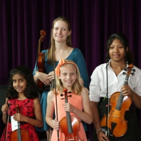 Myself and some students after the May 2015 solo recital.