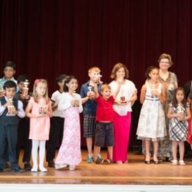 My Happy Students Receive Trophies