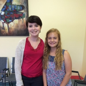 Heather, with her singing student, Isabella