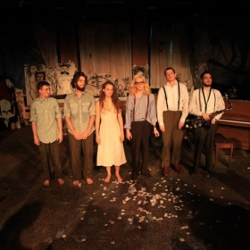 """W/ the cast of the NYU student production """"Strange Weather"""", a Tom Waits inspired show that solely featured his Rock and Roll music."""
