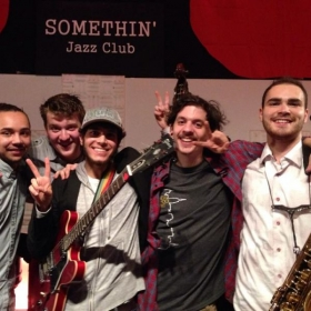 Playing W/ some close friends and great musicians from the New School at Somethin' Jazz Club in NY