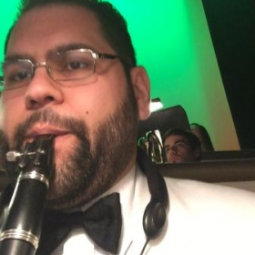 "Performing on clarinet for ""White Christmas"" with San Diego Musical Theater - December 2014"