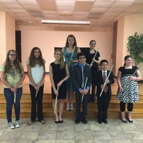 My students and me at our annual studio recital.