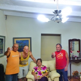 Reuniting with my Peruvian host family after 4 years!