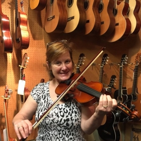 I'm so excited to announce that my student Lisa, of 6 months, has purchased her very OWN European violin!