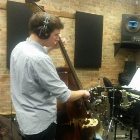 In the studio at DePaul University