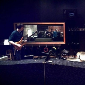 """In the studio with """"Cricket with the King"""" at Chicago IV Labs in 2014"""