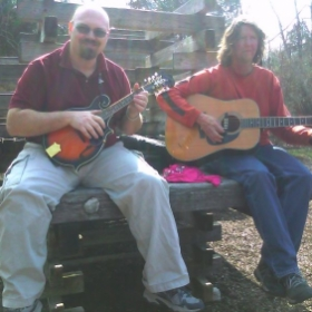 Me and my student Rob jamming out at the park!