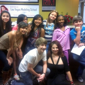 Coren with her students including Disney Star and 2012 Kids Choice Award winner Jake Short