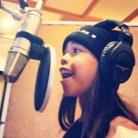 "Student Asia Monet Ray of Lifetimes ""Raising Asia"" and ""Dance Moms"" in the recording studio"