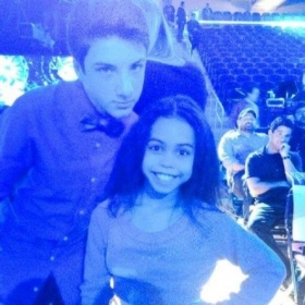 Students Jake Short and Asia Monet Ray at Kids Choice Awards rehearsal
