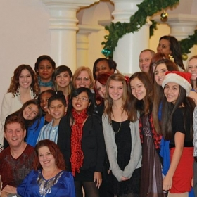 Students Del Mar Gardens retirement home Christmas show 2013