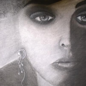 Charcoal Drawing by Ron Floyd