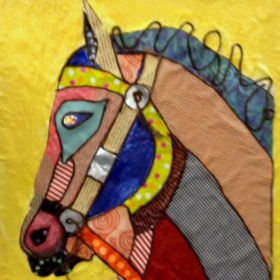 Collage Horse by Ron Floyd 16x20