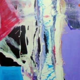 Abstract Painting by Ron Floyd (partial view) 42x64