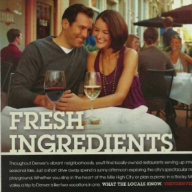 Ad advertisement I shot for Visit Denver, which was featured in Food & Wine Magazine and other publications, nationwide.