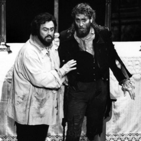 "Luciano Pavarotti and Gregory S. in Pittsburgh Opera's ""Tosca"""