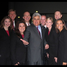 While singing in San Francisco, we ran into our friend, Jay Leno!