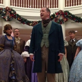 Singing a solo with The Voices of Liberty at Epcot.