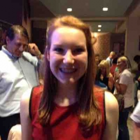 "Student Harper after performing in ""High School Musical"" at The Orlando Rep."
