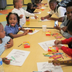 Facilitated Mother's Day program during a YMCA afterschool program at Winton Hills Elementary school