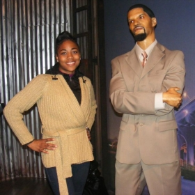 """House of Wax museum in Los Angeles, California- standing next to """"Jamie Foxx""""- one of my favorite comedians"""