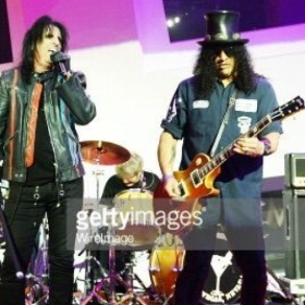 With Alice Cooper & Slash at Kerry Simon Fights MSA Benefit