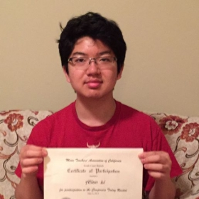 Allan L. presented his composition at MTACSC branch recital on 5/2/15. He received warm comments from the program Chair.