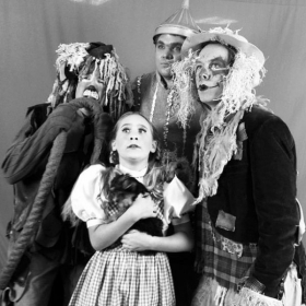 CYT's Wizard of OZ, (left to right): Tyler Shadle of NYFA, Kelsey Matheson of NYTA, Bailey Norris of AADA, and Brian Erickson of AMDA.