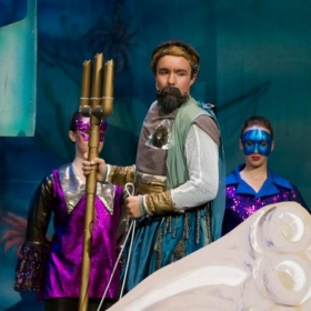 CYT's SB 2012 Award Winning Actor, Tyler Shadle, as King Triton in Disney's the Little Mermaid.