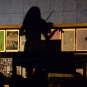 Shadow of me performing at my high school's prism concert 2012