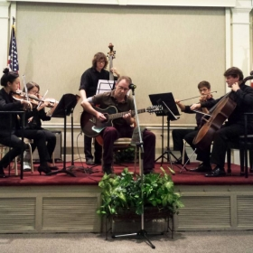 Live performance with string quintet at Winter Park University Club, FL.