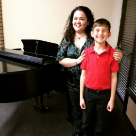 After the January recital with piano student, Daniel H.