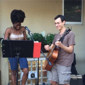 Improvisation duet with local singing sensation Bethlehem. Weaver's Way's weekly local music and food event, Mount Airy, PA, July 16, 2015